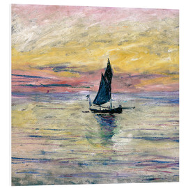 Foam board print  Sailboat evening - Claude Monet