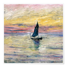 Premium poster Sailboat evening