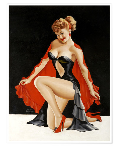 Poster Pin up illustration
