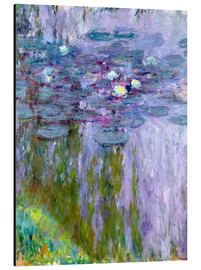 Aluminium print  Waterlilies - Claude Monet