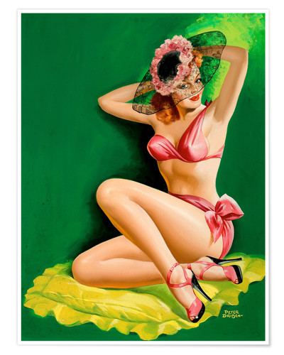 Premium poster Pin Up with Hat
