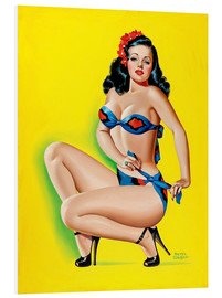 Foam board print  Pin Up in a Bikini - Peter Driben