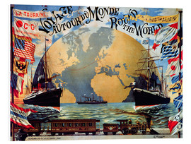 Forex  'Voyage Around the World', poster for the 'Compagnie Generale Transatlantique', late 19th century - Jakob Emil Schindler