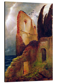 Aluminium print  Ruin by the Sea - Arnold Böcklin