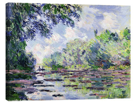 Canvas  Seine at Giverny - Claude Monet