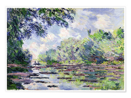 Premium poster  Seine at Giverny - Claude Monet
