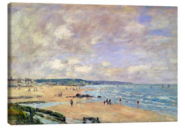 Canvas print  Beach at Trouville - Eugène Boudin