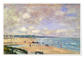 Premium poster  Beach at Trouville - Eugène Boudin