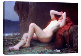 Canvas print  Mary Magdalene in the Cave - Jules Joseph Lefebvre