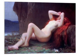 Foam board print  Mary Magdalene in the Cave - Jules Joseph Lefebvre