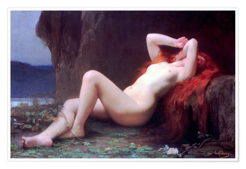 Premium poster Mary Magdalene in the Cave