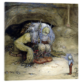 Acrylic print  The Troll and the Boy - John Bauer
