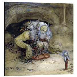 Aluminium print  The Troll and the Boy - John Bauer