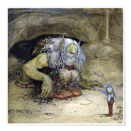 Poster  The Troll and the Boy - John Bauer