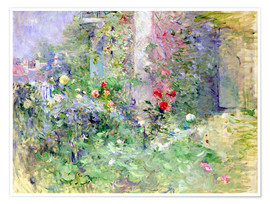Poster  The Garden at Bougival - Berthe Morisot