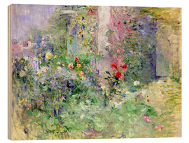 Wood print  The Garden at Bougival - Berthe Morisot