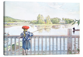 Canvas print  Lisbeth angling - Carl Larsson
