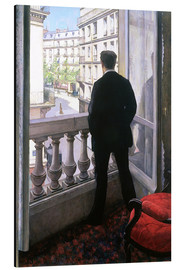 Aluminium print  Man at the Window - Gustave Caillebotte