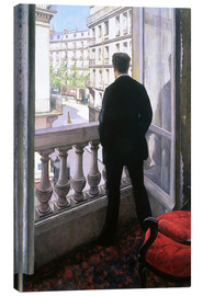 Canvas  Man at the Window - Gustave Caillebotte