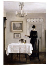 Acrylic print  Interior with Lady Carrying Tray - Carl Holsøe