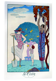 Acrylic print  The earth, 1925 - Georges Barbier