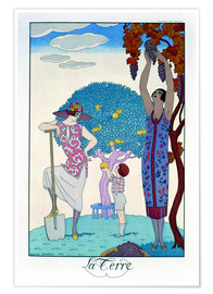 Premium poster  The earth, 1925 - Georges Barbier