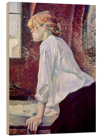 Wood print  The Washerwoman - Henri de Toulouse-Lautrec