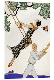 Acrylic print  The Swing, 1920s - Georges Barbier
