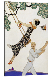 Aluminium print  The Swing, 1920s - Georges Barbier