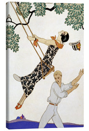Canvas print  The Swing, 1920s - Georges Barbier