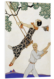 Foam board print  The Swing, 1920s - Georges Barbier