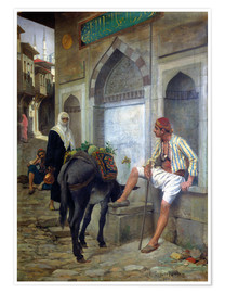 Poster A Street in Istanbul, 1883