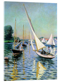 Acrylic print  Regatta in Argenteuil - Gustave Caillebotte