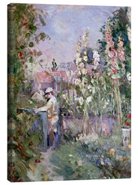 Canvas print  Young Boy in the Hollyhocks - Berthe Morisot