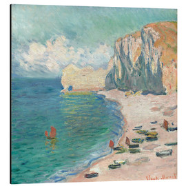 Aluminium print  Cliff at Etretat - Claude Monet