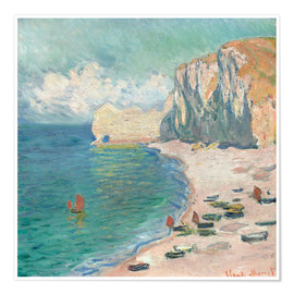 Poster  Cliff at Etretat - Claude Monet