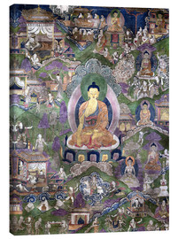 Canvas print  Thangka of the Buddha - Tibetan School
