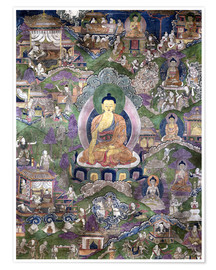 Premium poster  Thangka of the Buddha - Tibetan School