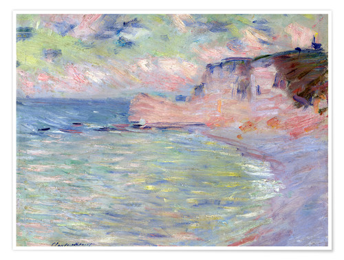 Premium poster Cliffs and the Porte d'Amont, Morning Effect, 1885