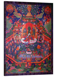 Aluminium print  Thangka depicting Green Tara - Tibetan School