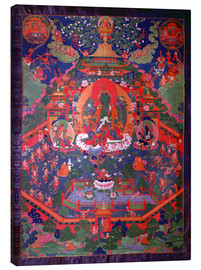 Canvas print  Thangka depicting Green Tara - Tibetan School