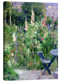 Canvas print  Hollyhocks - Berthe Morisot