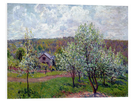 Foam board print  Spring near Paris - Alfred Sisley