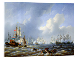 Acrylic print  The Battle of Camperdown from 11th October 1797 - Petrus Johann Schotel