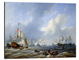 Aluminium print  The Battle of Camperdown of October 11, 1797 - Petrus Johann Schotel