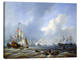 Canvas print  The Battle of Camperdown from 11th October 1797 - Petrus Johann Schotel