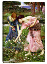 Canvas print  Rose picking in May - John William Waterhouse