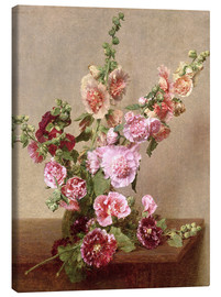 Canvas  Hollyhocks - Henri de Fantin-Latour