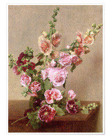 Premium poster Hollyhocks