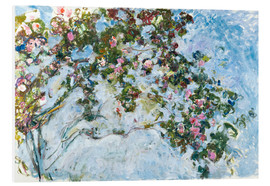 Foam board print  The roses - Claude Monet